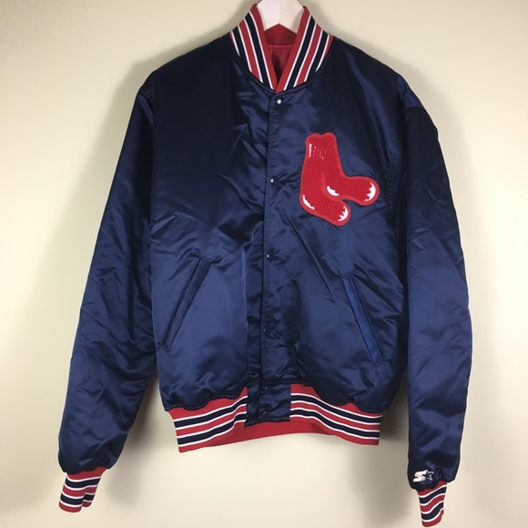 a4b91dc9e Vintage Starter Red Sox satin nylon baseball men L